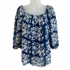 Bailey44 Small Blouse Taverna Relaxed Fit Top Blue